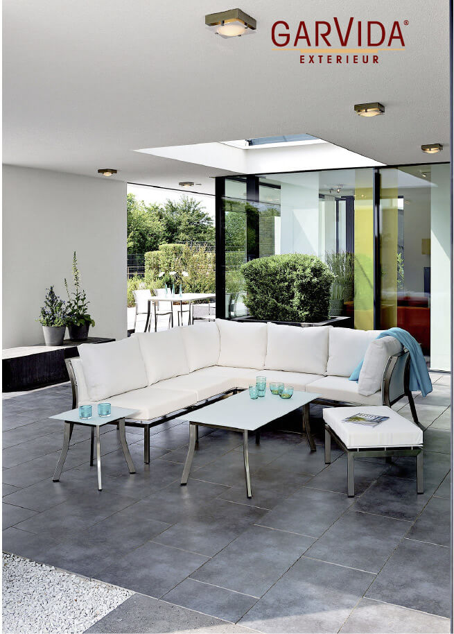 GarVida Loungemöbel in weiß für Terrassen in Nürnberg, Erlangen, Fürth und Würzburg